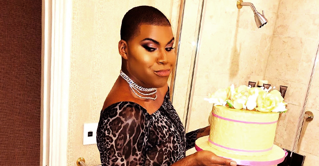 Magic Johnson's Son EJ Rocks Sheer Bodysuit While Holding Cake in a Recent Photo