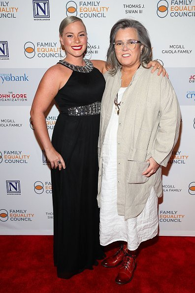 Elizabeth Rooney and Rosie O'Donnell attend Family Equality Council's 'Night At The Pier' at Pier 60 on May 7, 2018 in New York City., | Source: Getty Images.