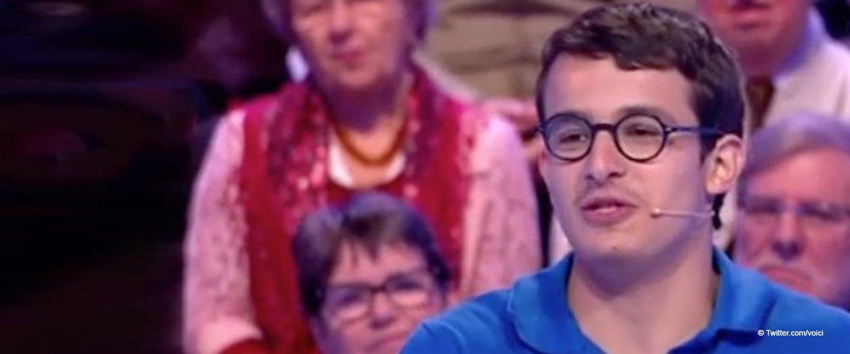 La photo de Paul dans l'émission Les 12 Coups de midi | Source: Twitter, Voici