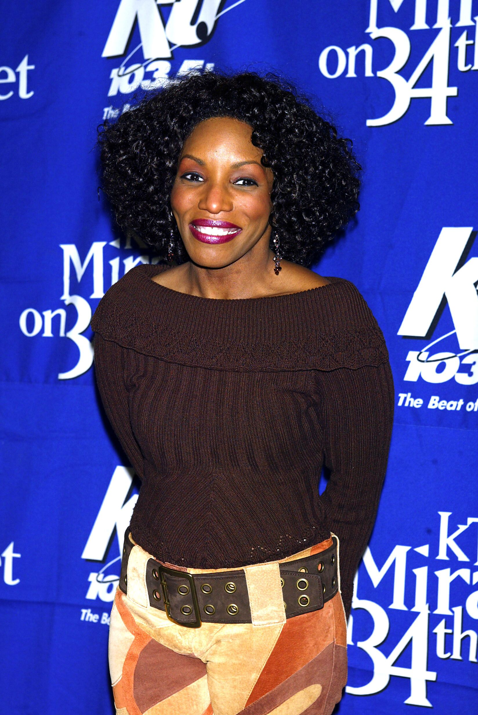 "Stephanie Mills backstage during KTU's ""Miracle on 34th Street"" holiday concert in New York City. December 18, 2002 