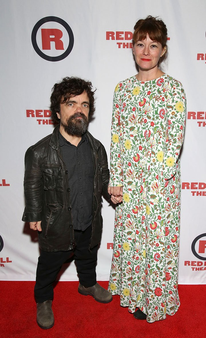 "Peter Dinklage and Erica Schmidt attending the opening night of the play ""All The Fine Boys"" (by Schmidt) in New York City in 2017. I Image: Getty Images."