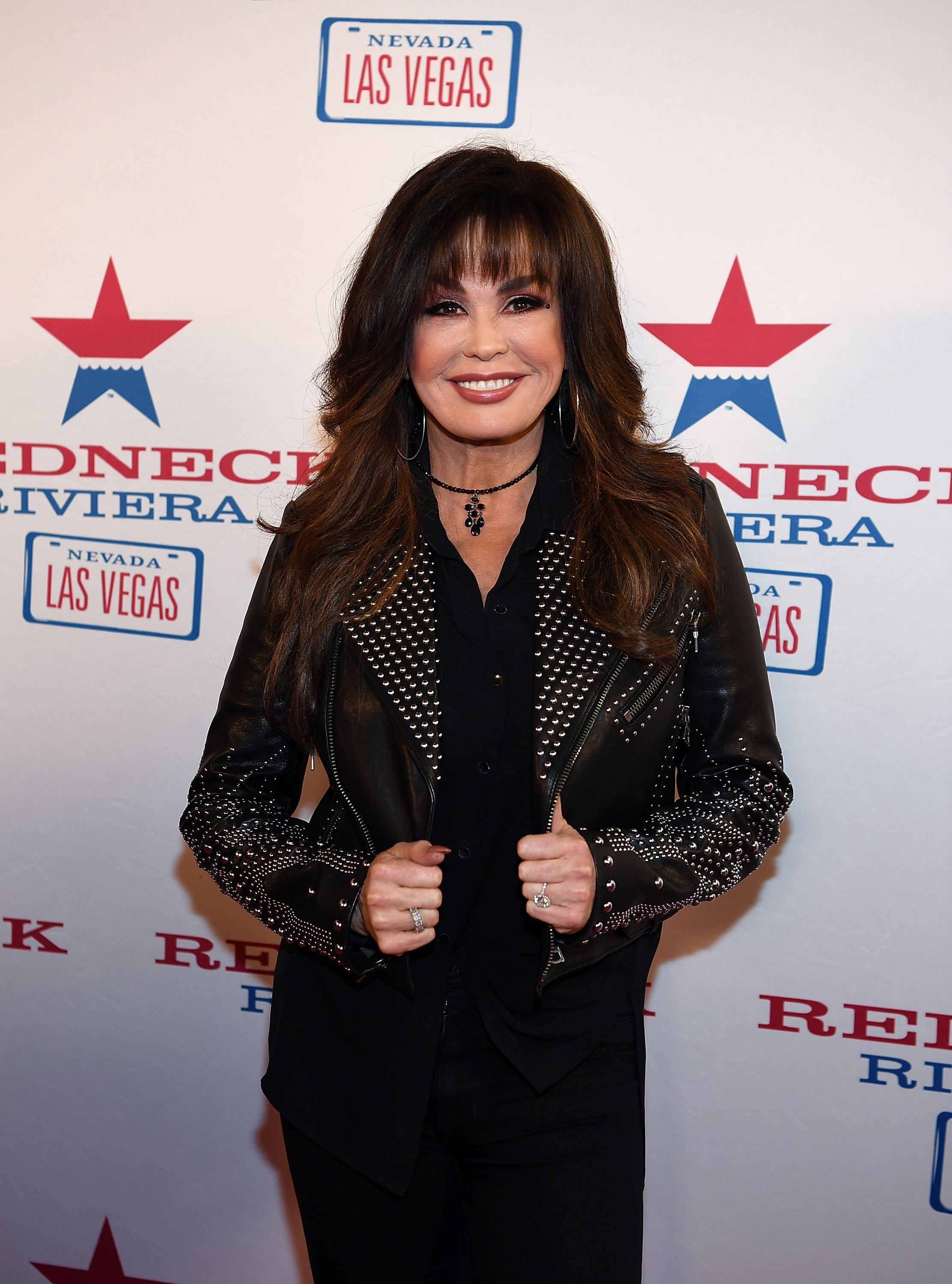 Marie Osmond arrives at the Redneck Riveria VIP grand opening on February 16, 2017, in Las Vegas, Nevada. | Source: Getty Images.