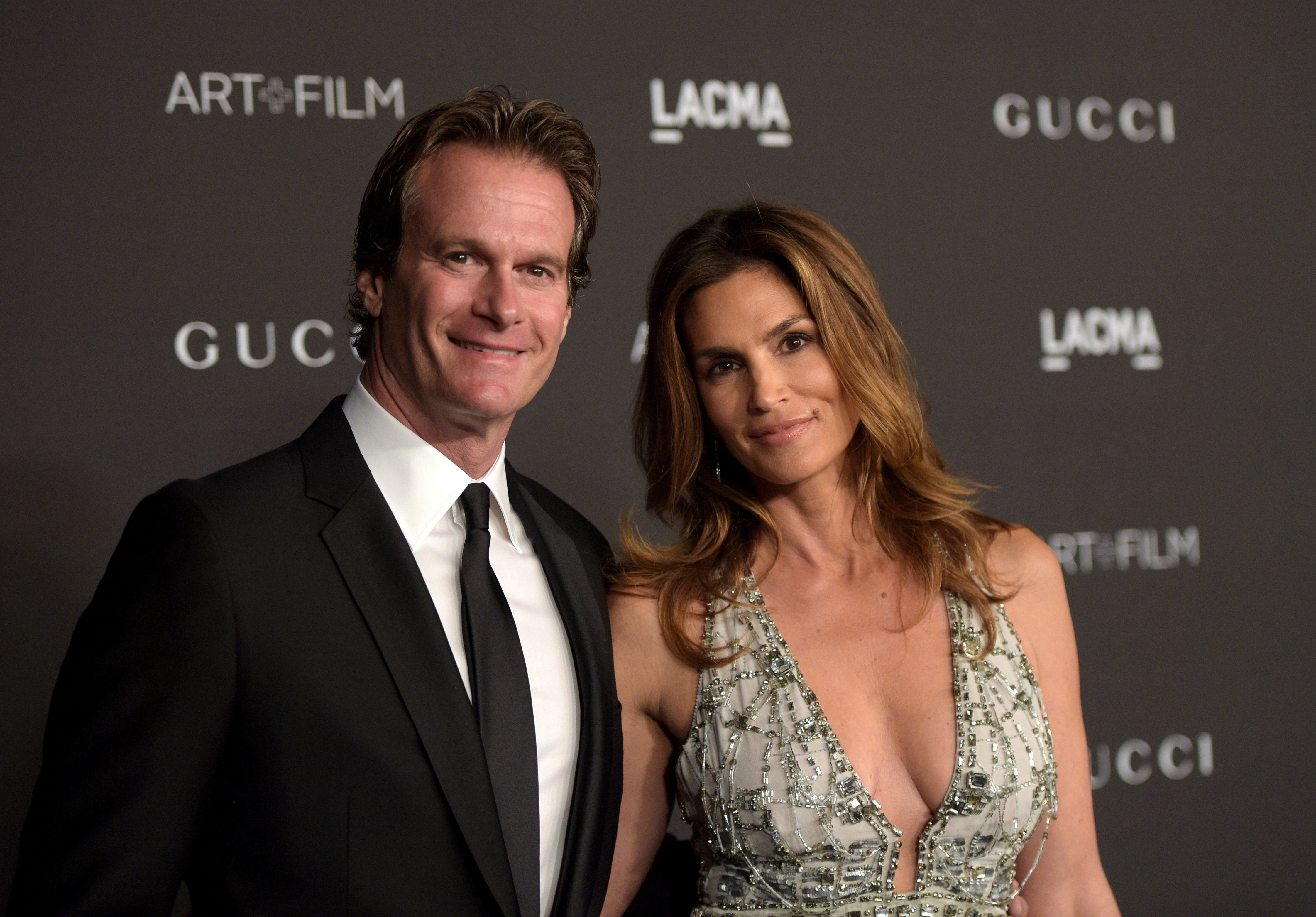 Cindy Crawford and Rande Gerber at the 2014 LACMA Art + Film Gala on November 1, 2014 | Photo: Getty Images