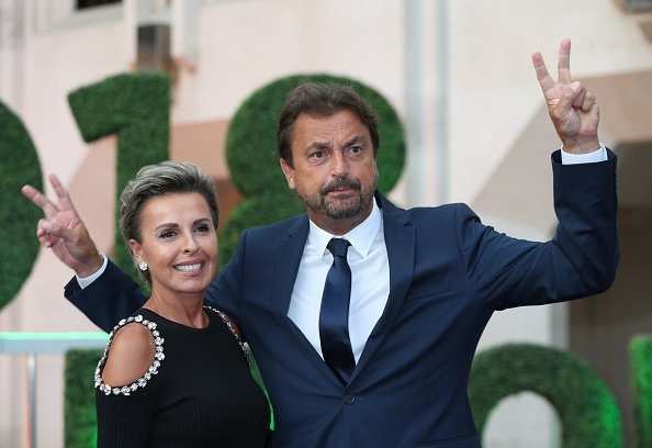 Henri Leconte et Florentine Leconte arrivent au dîner des champions au Guildhall de The City of London.  | Photo : Getty Images