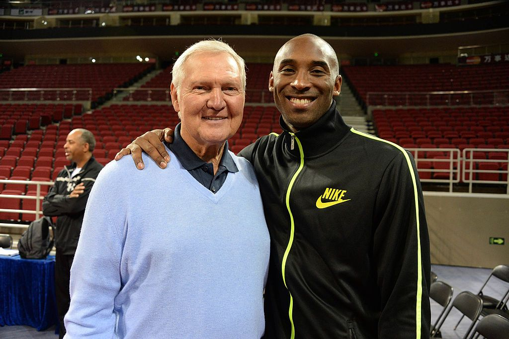 Jerry West and Kobe Bryant poses for a photo during practice as part of 2013 Global Games on October 14, 2013 | Photo: Getty Images