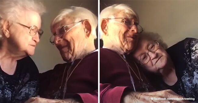 Emotional Video of an Old Man Serenading His Wife with a Touching Song on Their 70th Anniversary