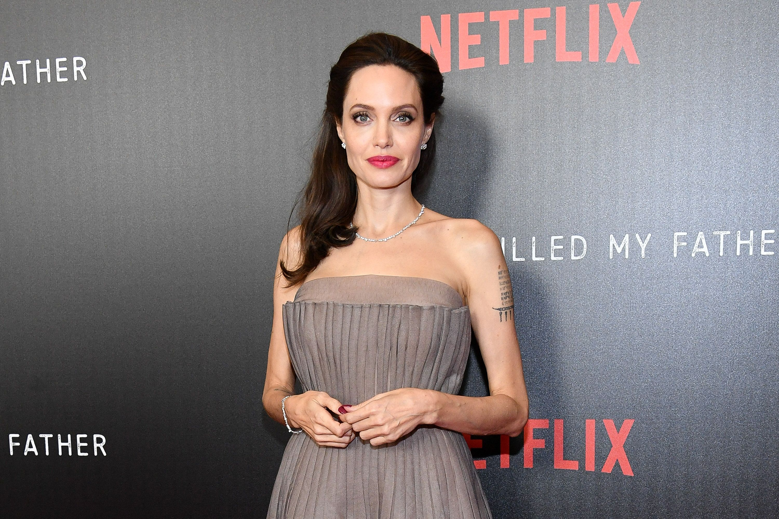"""Angelina Jolie at the """"First They Killed My Father"""" New York premiere at DGA Theater on September 14, 2017 