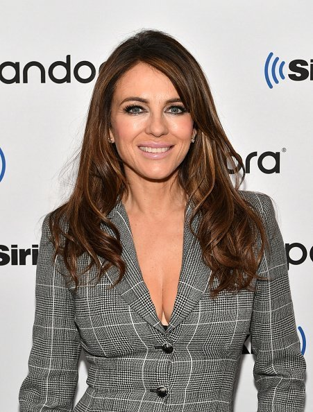 Elizabeth Hurley at the SiriusXM Studios on December 11, 2019   Source: Getty Images
