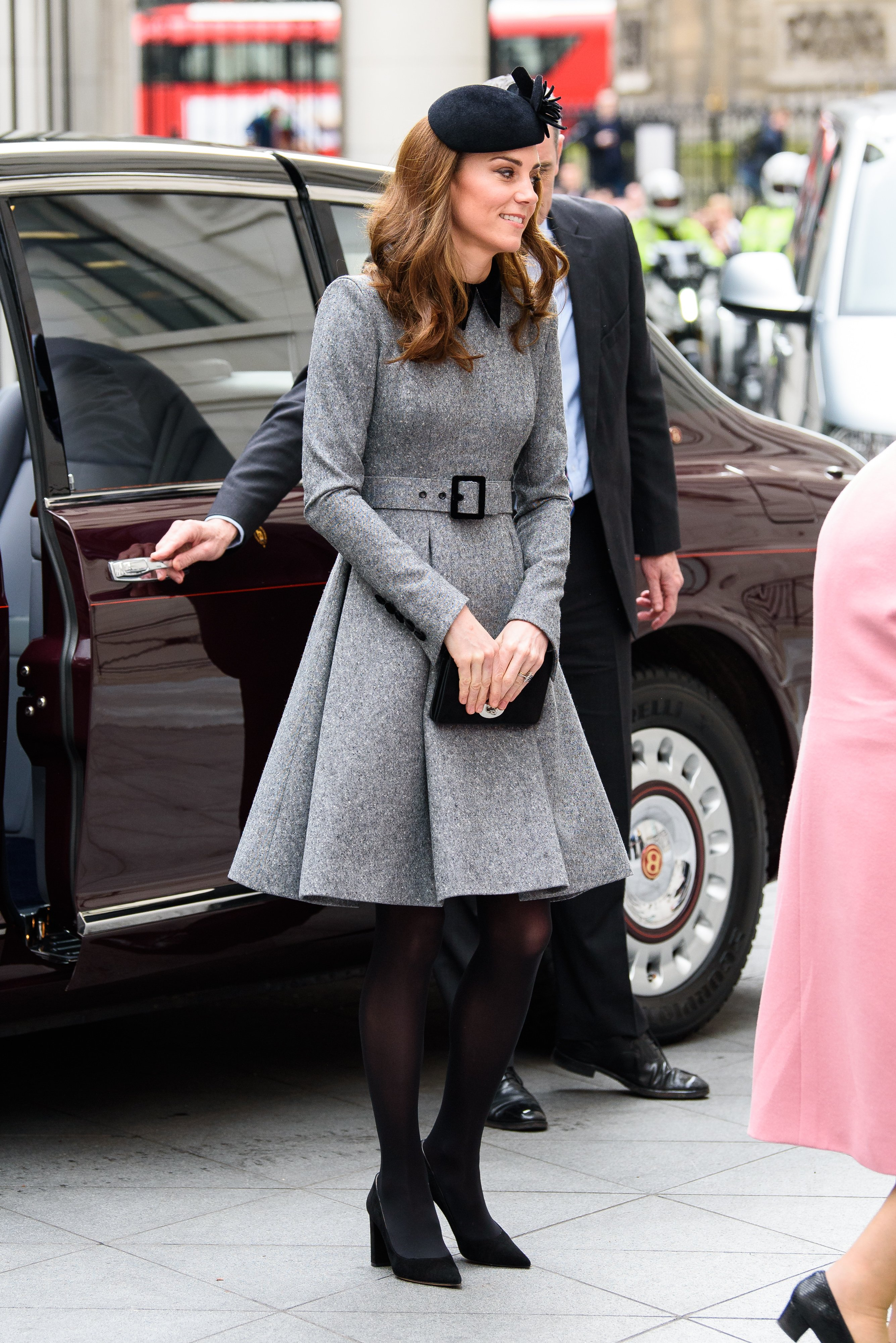 Kate MIddleton on a solo engagement at the Foundling Museum on March 19, 2019 | Photo: Getty Images