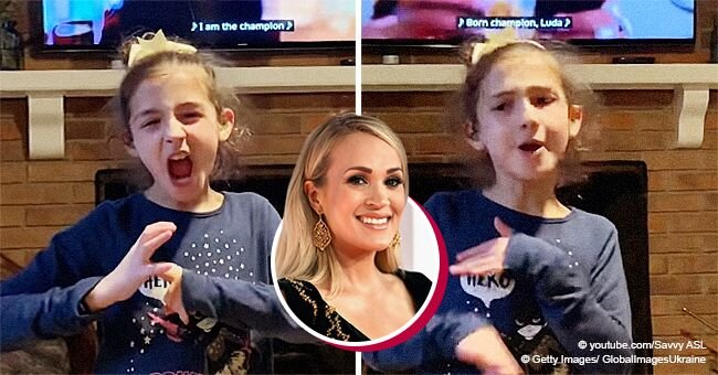 Deaf Girl Nails Carrie Underwood's Hit Using Sign Language and Proves She's a True 'Champion'