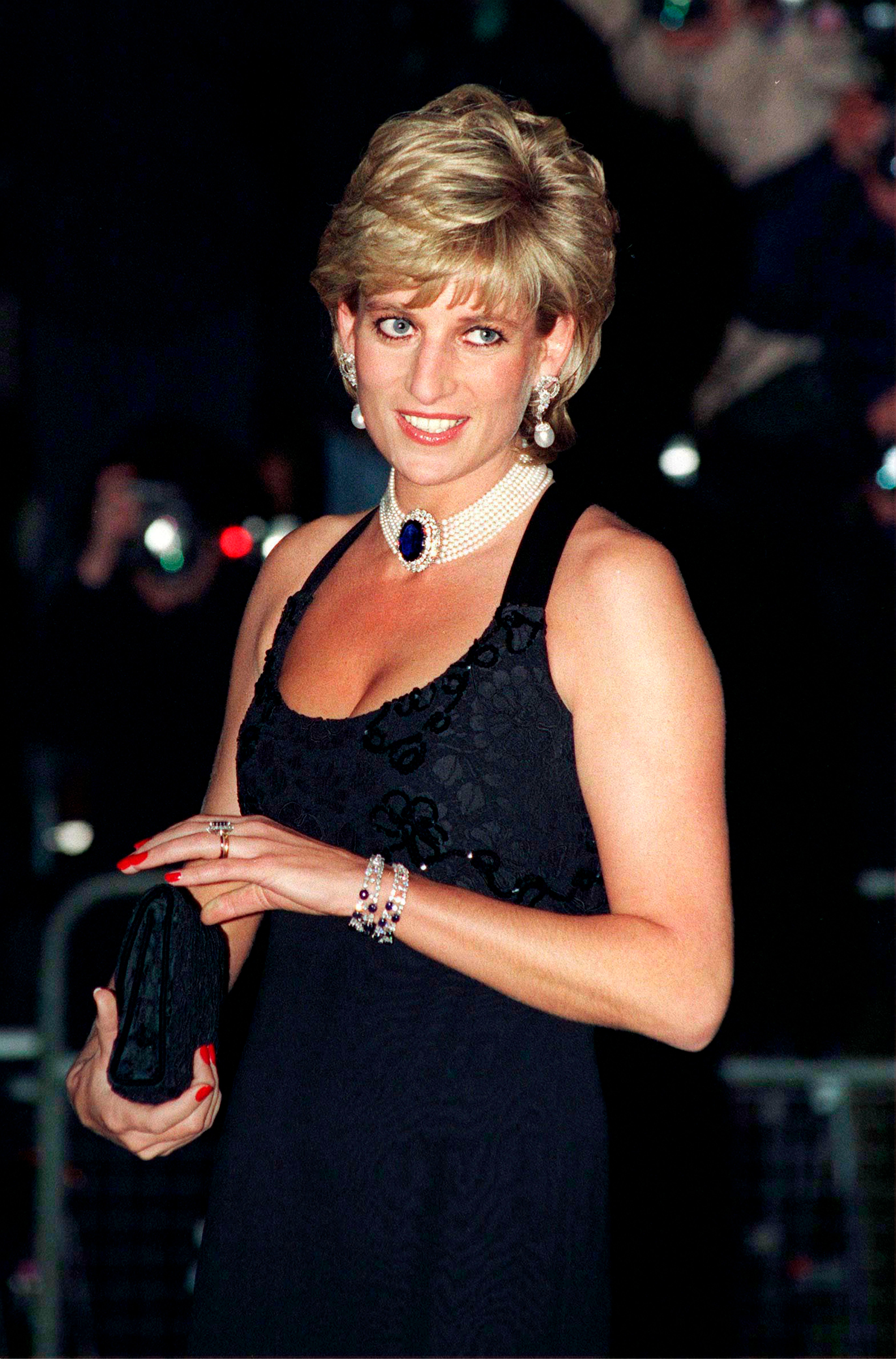 Diana, Princess Of Wales, at the gala for Aid Of Cancer Research in London in 1995   Source: Getty Images