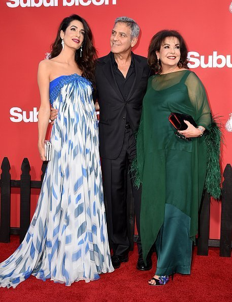 George Clooney, Amal and Amal's mom, Bria Alamudin | Photo:Getty Images