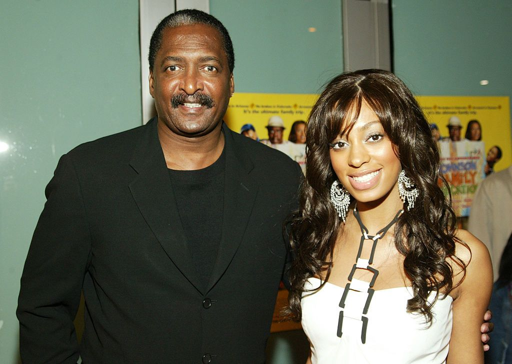 "Solange Knowles and Matthew Knowles at the premier of ""Johnson Family Vacation"" at the Cinerama Dome on March 31, 2004 