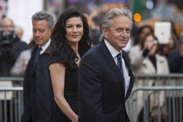 Catherine Zeta-Jones and Michael Douglas attends the 40th Anniversary Chaplin Award Gala at Avery Fisher Hall at Lincoln Center for the Performing Arts on April 22, 2013 in New York City | Photo: Getty Images