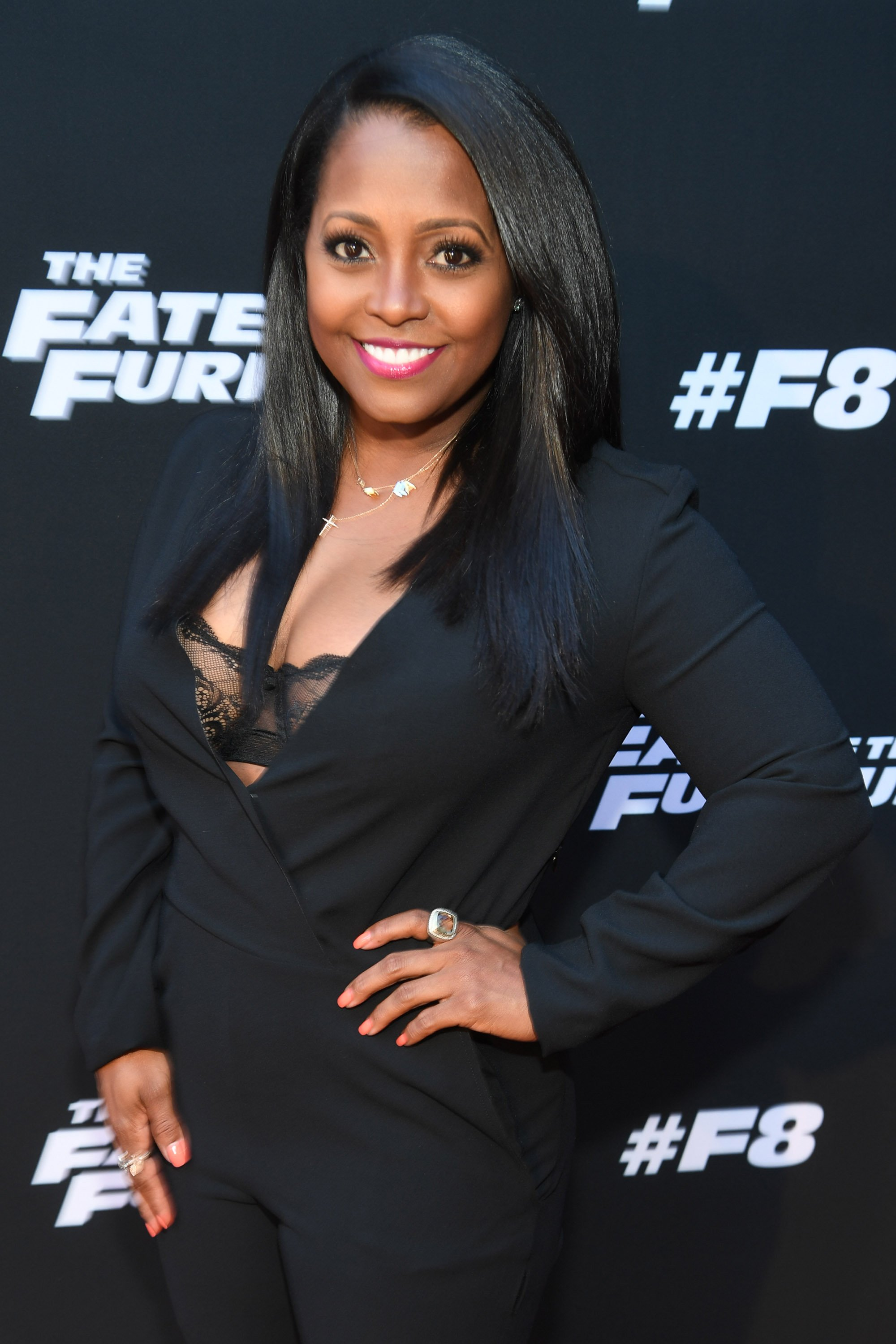 "Keshia Knight Pulliam at the red carpert screening of ""The Fate of the Furious"" at SCADshow on April 4, 2017, in Atlanta, Georgia.