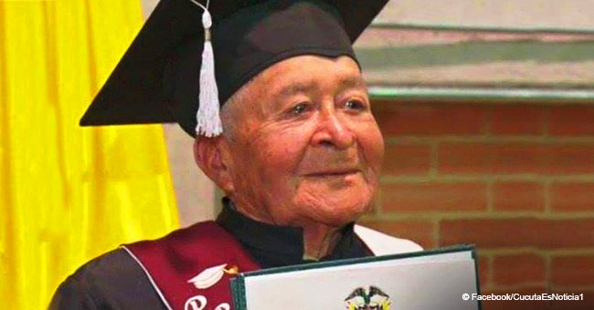90-year-old abandoned by his 7 sons gets his school diploma