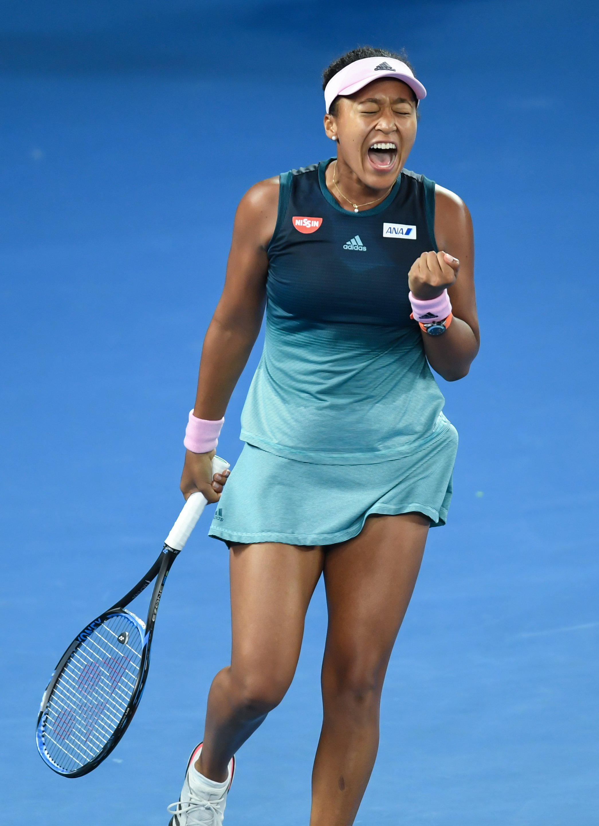 Naomi Osaka screams in delight after hitting a winner during the Women's singles final during day 13 of the 2019 Australian Open at Melbourne Park on January 26, 2019 in Melbourne, Australia   Photo: Getty Images