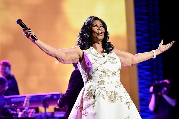 """Aretha Franklin performs onstage during the """"Clive Davis: The Soundtrack of Our Lives"""" Premiere Concert during the 2017 Tribeca Film Festival at Radio City Music Hall    Photo: Getty Images"""