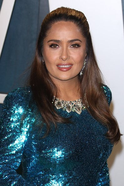 Salma Hayek at Wallis Annenberg Center for the Performing Arts on February 09, 2020 in Beverly Hills, California. | Photo: Getty Images
