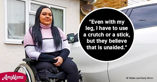 Devastated woman might lose her mobility car as she can 'walk between 20 and 50 metres unaided'