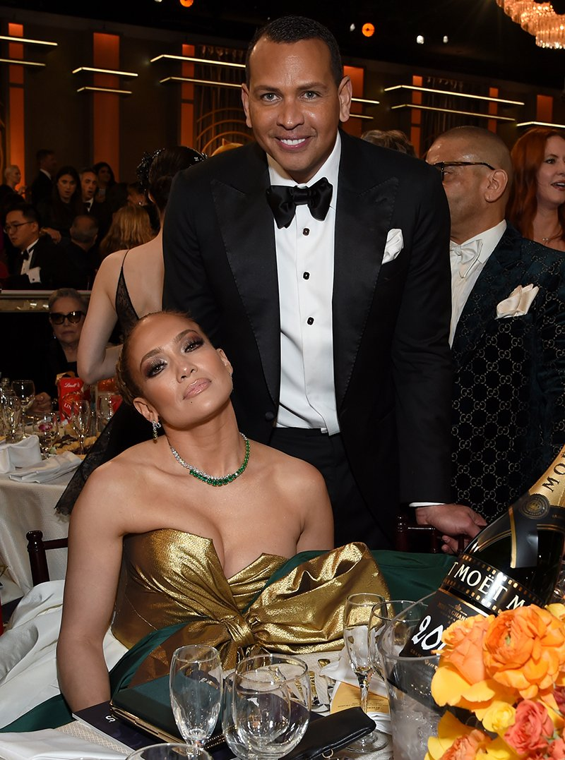Alex Rodriguez and Jennifer Lopez attending the 77th Annual Golden Globe Awards in Beverly Hills, California in January 2020. I Image: Getty Images.