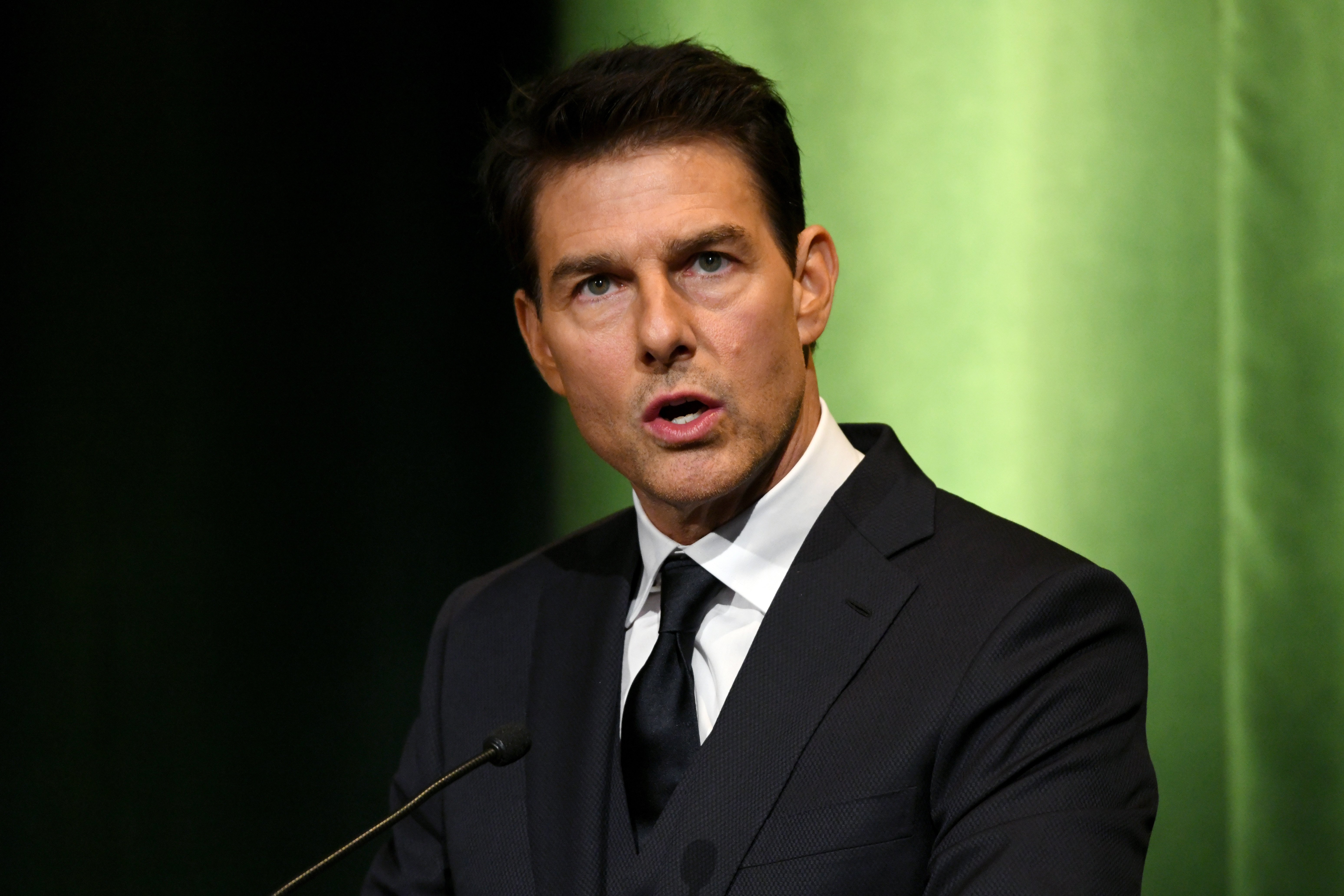 Tom Cruise speaks onstage during the 10th Annual Lumiere Awards on January 30, 2019, in Burbank. | Source: Getty Images.