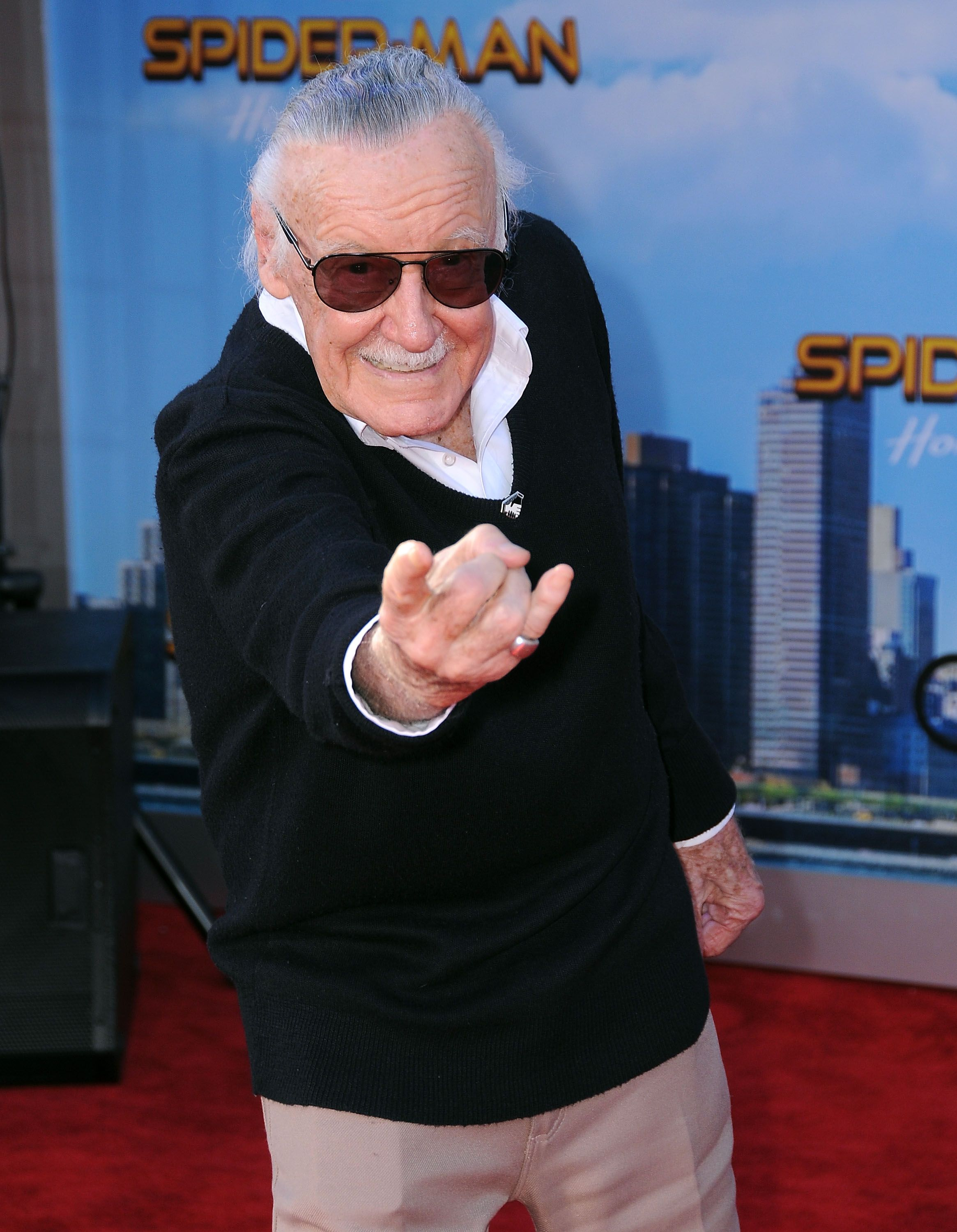 "Stan Lee at the premiere of ""Spider-Man: Homecoming"" at TCL Chinese Theatre on June 28, 2017 