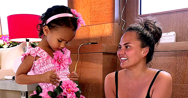 'Bring the Funny' Star Chrissy Teigen Reveals Daughter Luna's  Reaction to Being Picked up Late
