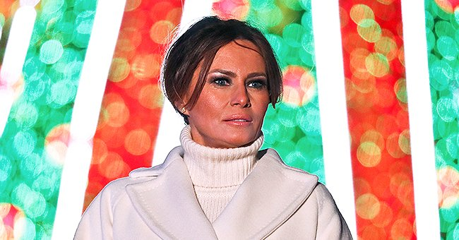 Melania Trump Dazzles in Green Tight Dress & Silver Heels in a New Christmas Photo