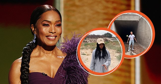 A picture of Angela Bassett and her children   Photo: Getty Images