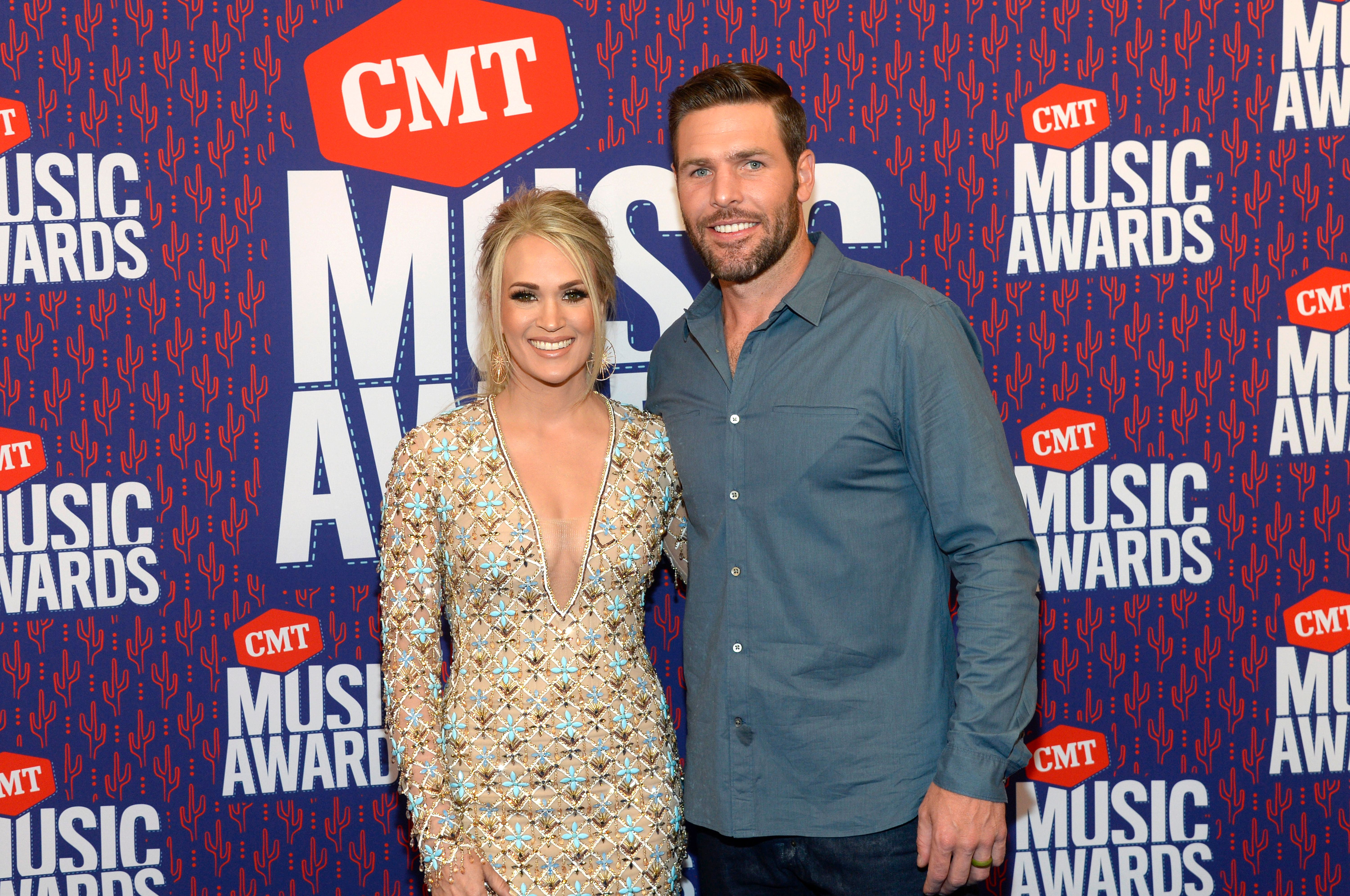 Carrie Underwood and Mike Fisher at the 2019 CMT Music Award at Bridgestone Arena on June 05, 2019   Photo: Getty Images