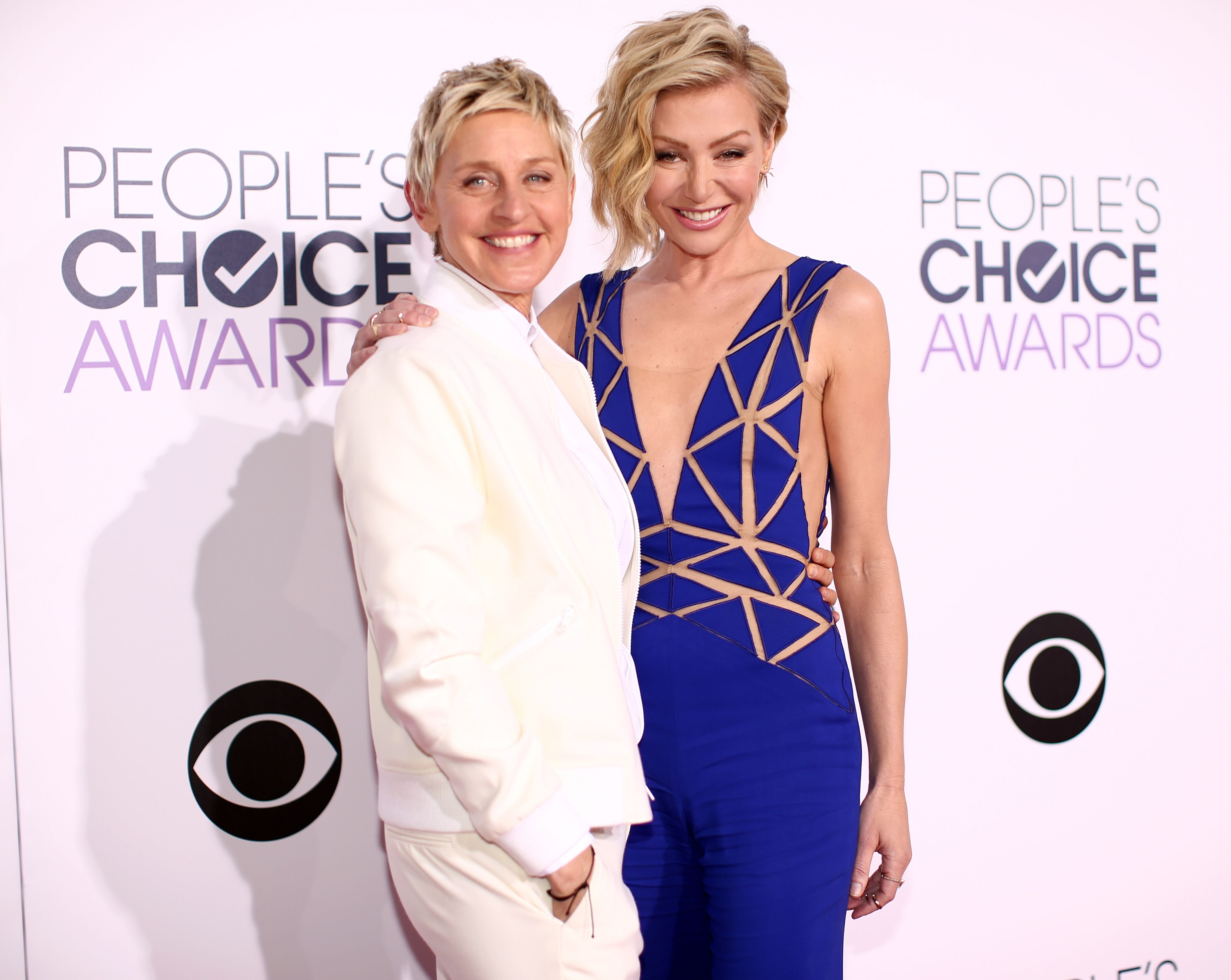 Ellen DeGeneres and actress Portia de Rossi attend The 41st Annual People's Choice Awards. | Source: Getty Images
