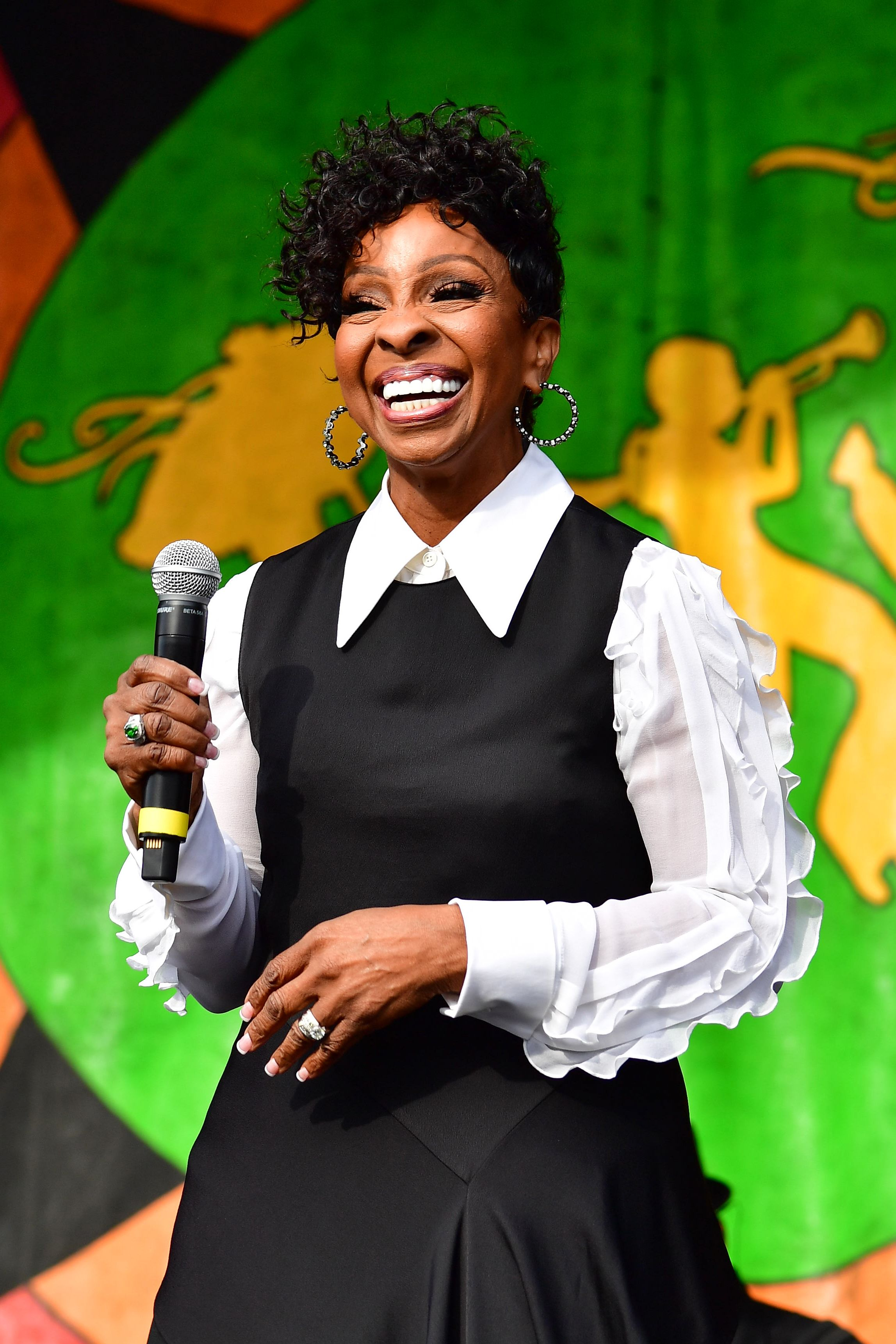 Gladys Knight during the 2019 New Orleans Jazz & Heritage Festival 50th Anniversary at Fair Grounds Race Course on May 03, 2019 in New Orleans, Louisiana. | Source: Getty Images