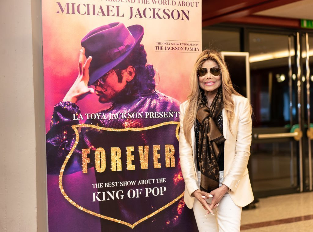 "LaToya Jackson visits the Jahrhunderthalle in the Höchst district before her tour of Germany. Under the title ""Forever - King of Pop"" she will appear in 15 German cities 
