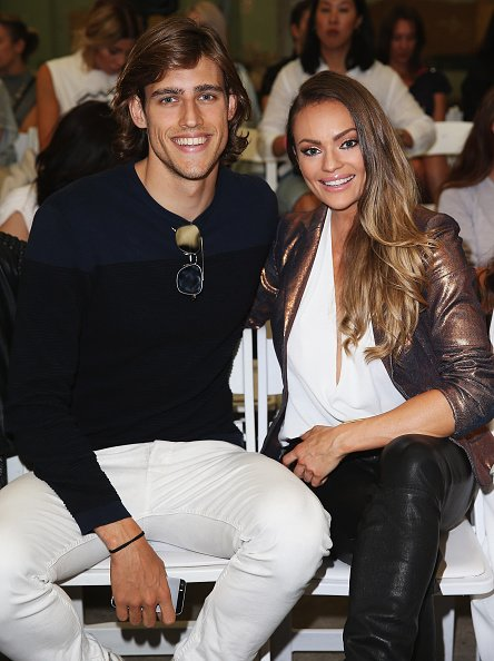 Zac Stenmark and Emily Skye at Carriageworks on April 13, 2015 in Sydney, Australia. | Photo: Getty Images Getty Images