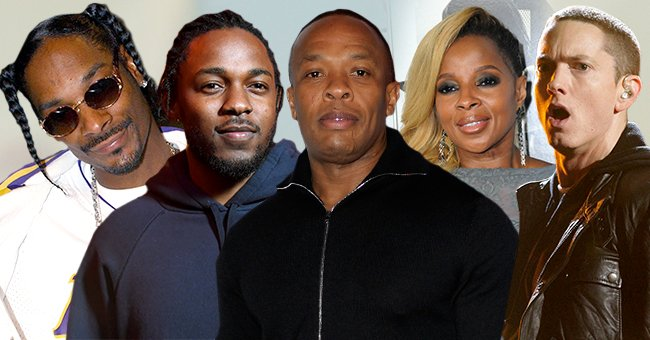 From left to right; Snoop Dogg, Kendrick Lamar, Dr. Dre, Mary J Blige, and Eminem all of whom will be performing in the 2022 Superbowl halftime show   Photo: Getty Images