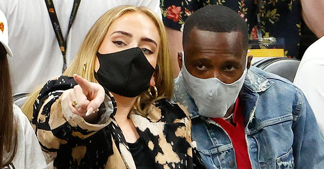 Adele and Rich Paul at Game Five of the NBA Finals, July 2021   Source: Getty Images