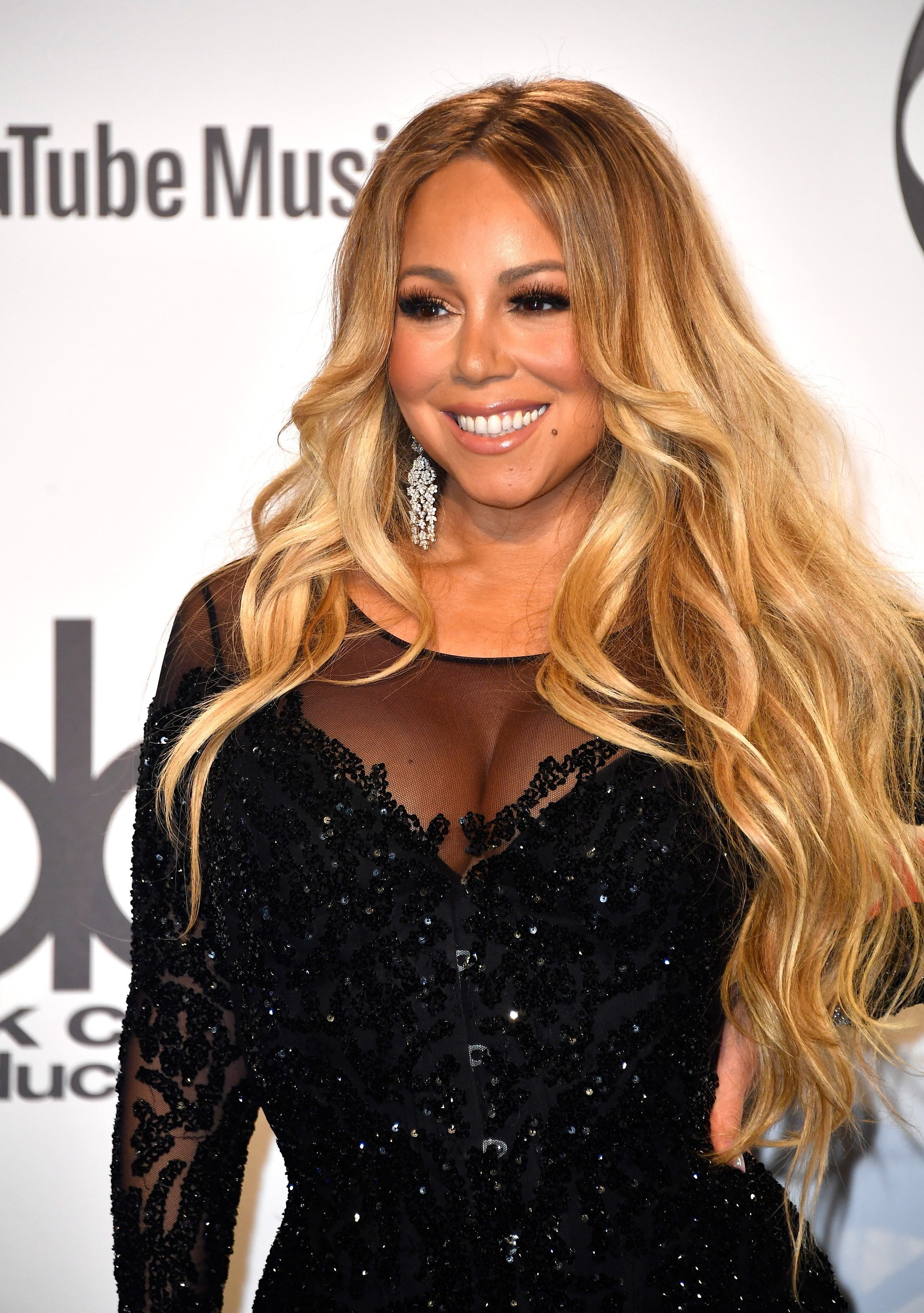 Mariah Carey poses in the press room during the 2018 American Music Awards at Microsoft Theater on October 9, 2018, in Los Angeles, California. | Source: Getty Images.