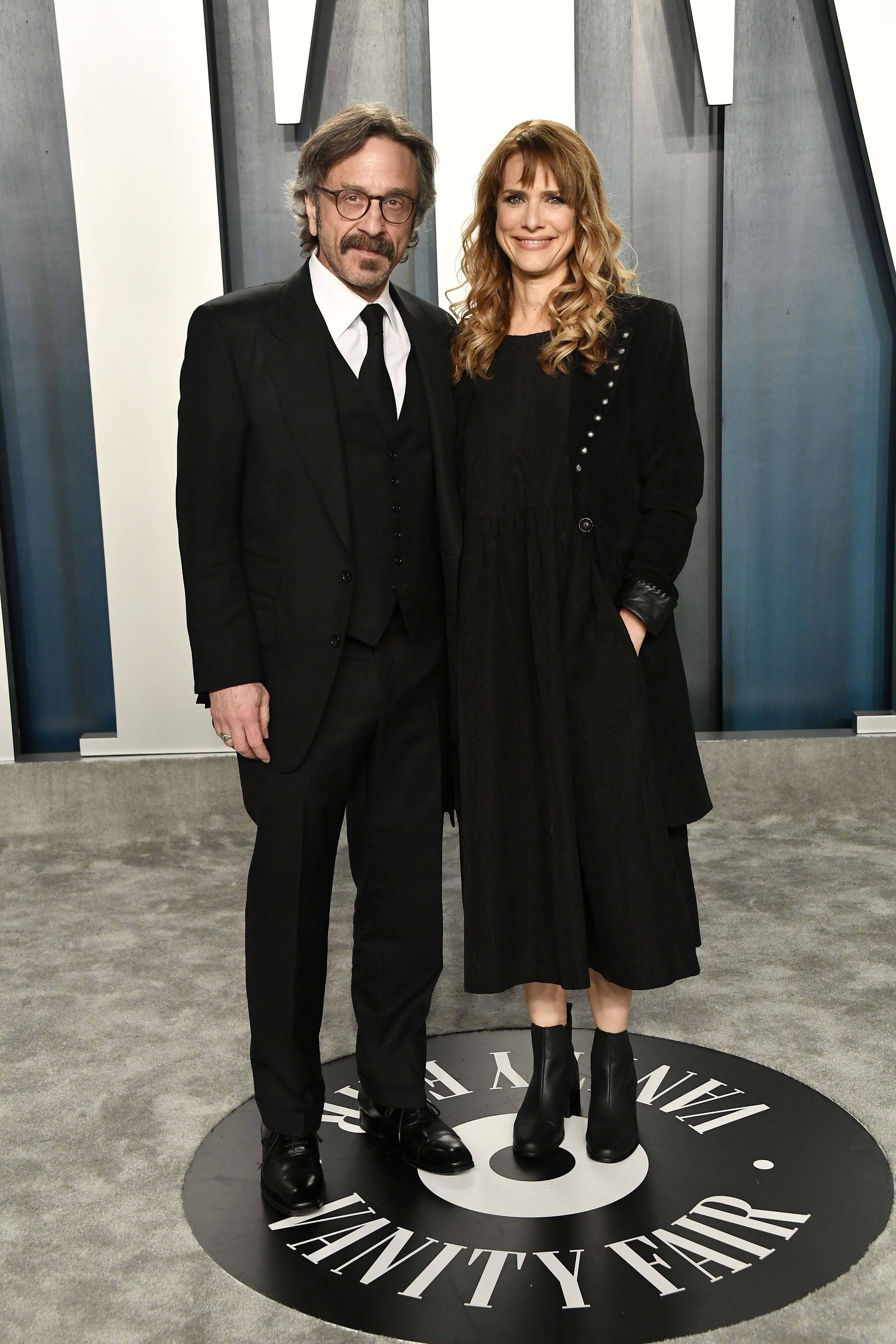 Marc Maron and Lynn Shelton at the Vanity Fair Oscar Party on February 09, 2020 in Beverly Hills, California | Photo: Getty Images