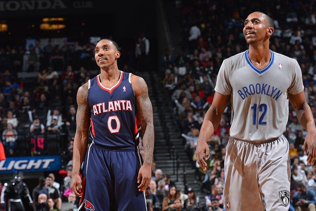 Jeff Teague and Marquis Teague during a game on April 11, 2014 at the Barclays Center in Brooklyn, New York   Photo: Getty Images