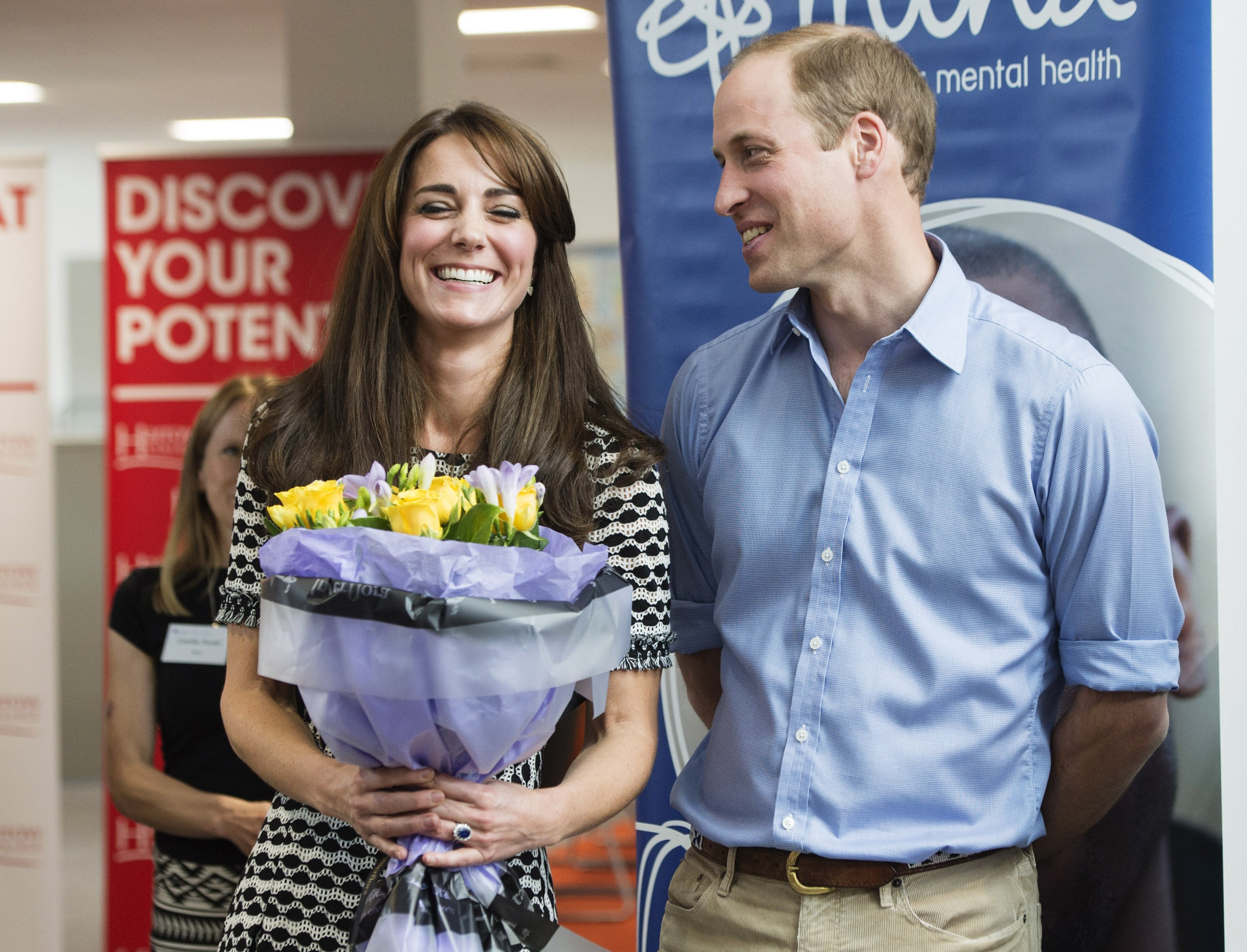 Prinz William und Catherine am Harrow College am 10. Oktober 2015 in Harrow, England. | Quelle: Getty Images