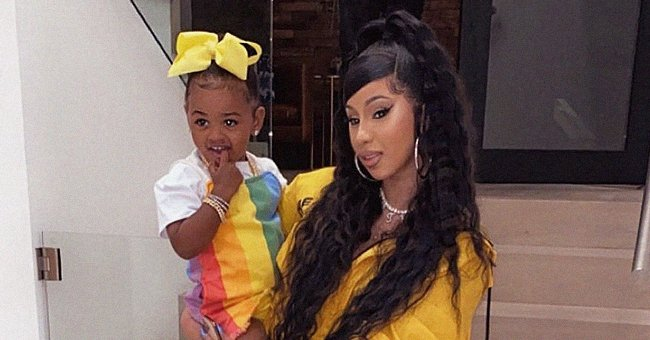 Cardi B's Daughter Poses like a Diva in This Adorable Clip in a Pink Outfit, Headband & Glasses
