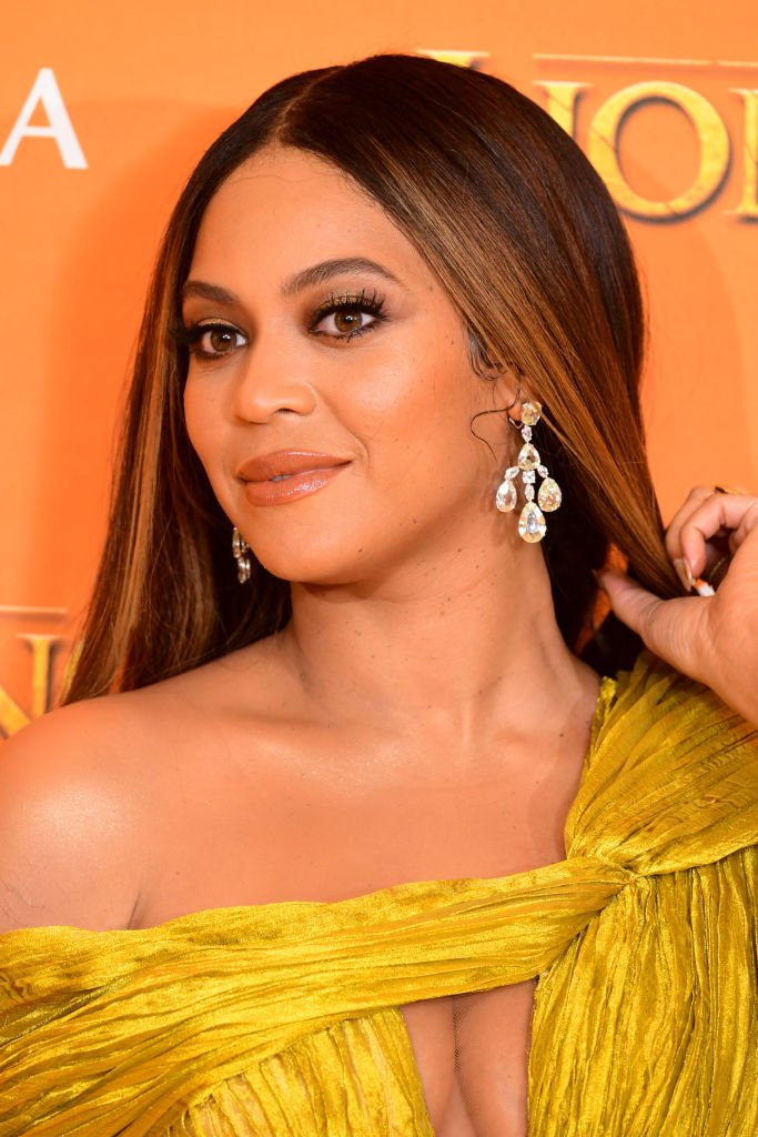 """Beyonce attending Disney's """"The Lion King"""" European Premiere held in Leicester Square, London   Photo: Getty Images"""