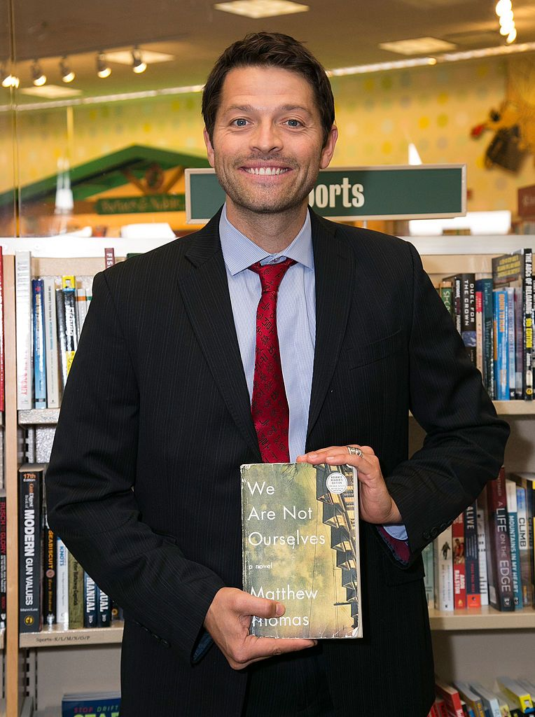 """Misha Collins during the Matthew Thomas and Misha Collins book signing for """"We Are Not Ourselves"""" at Barnes & Noble bookstore at The Grove on September 28, 2014 in Los Angeles, California. 