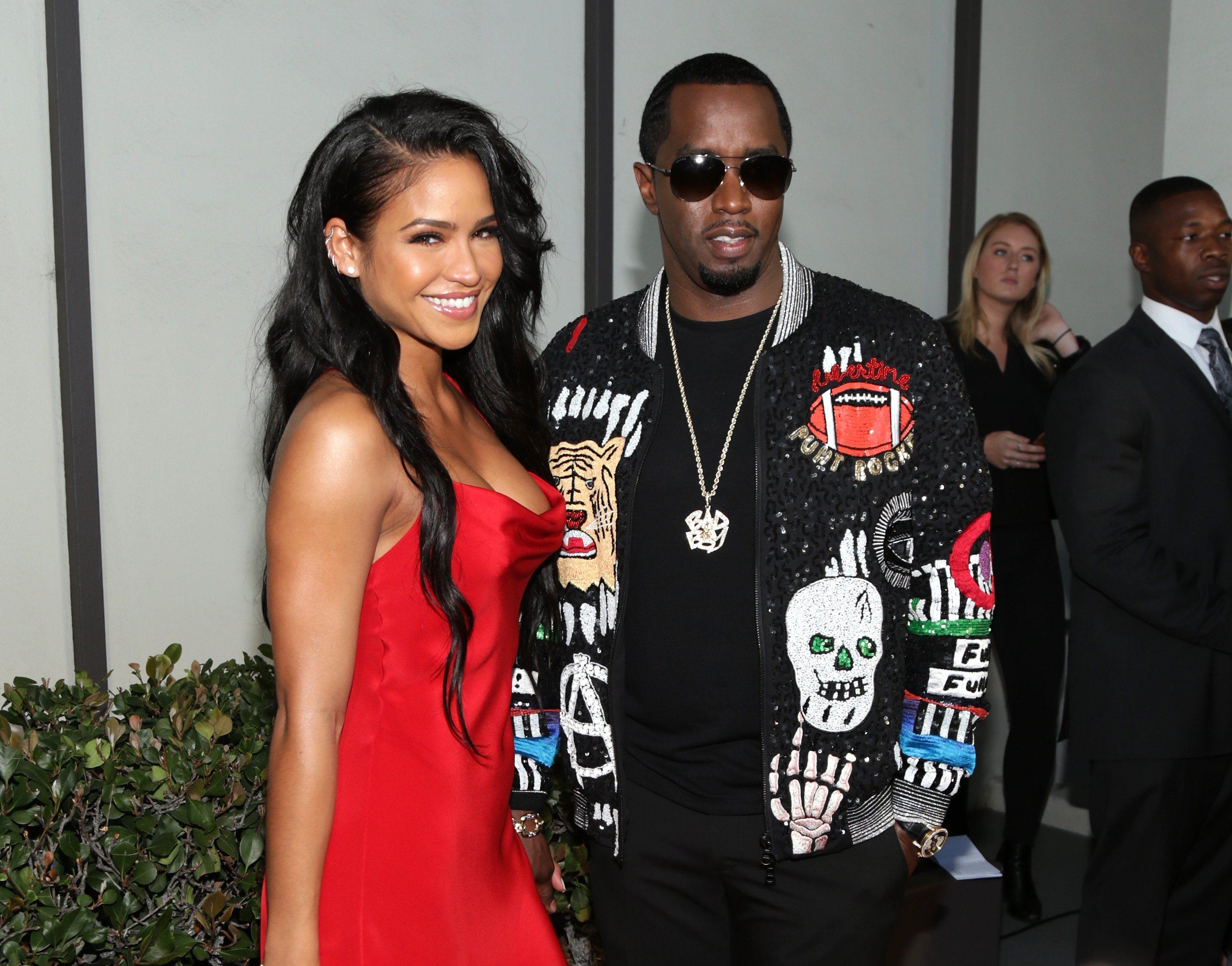 """Cassie and Sean """"P. Diddy"""" Combs at the premiere of """"Can't Stop Won't Stop"""" on June 21, 2017 in Los Angeles, California. 