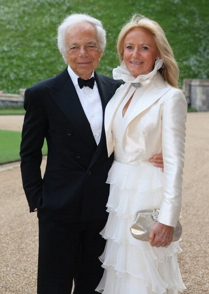 Ralph Lauren and Ricky Anne Loew-Beer arrives for a dinner to celebrate the work of The Royal Marsden hosted by the Duke of Cambridge at Windsor Castle on May 13, 2014, in Windsor, England. | Source: Getty Images.
