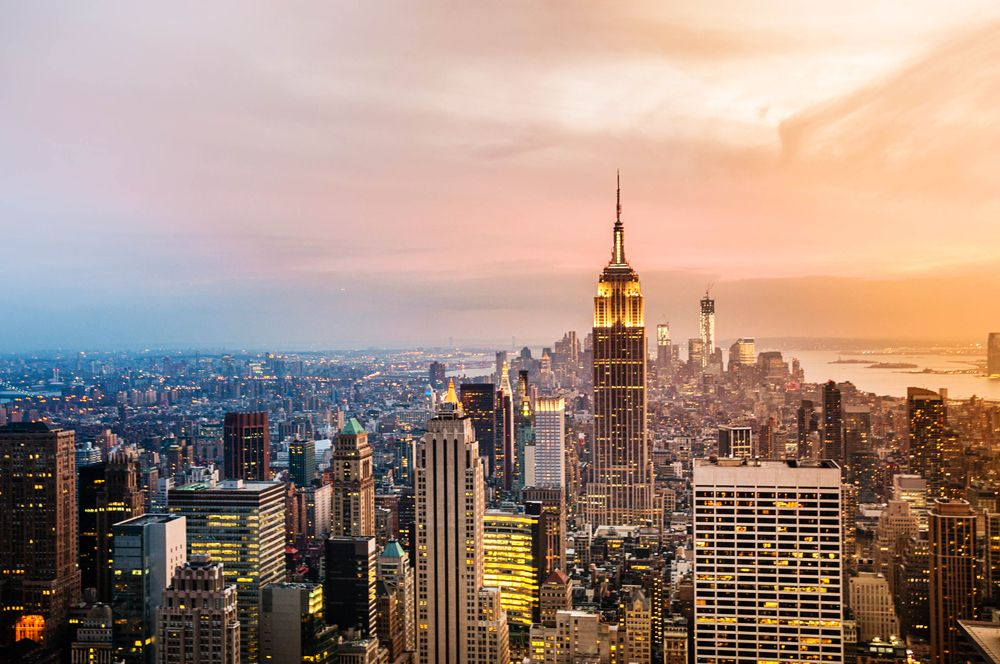 The New York City skyline during sunset. | Source: Shutterstock