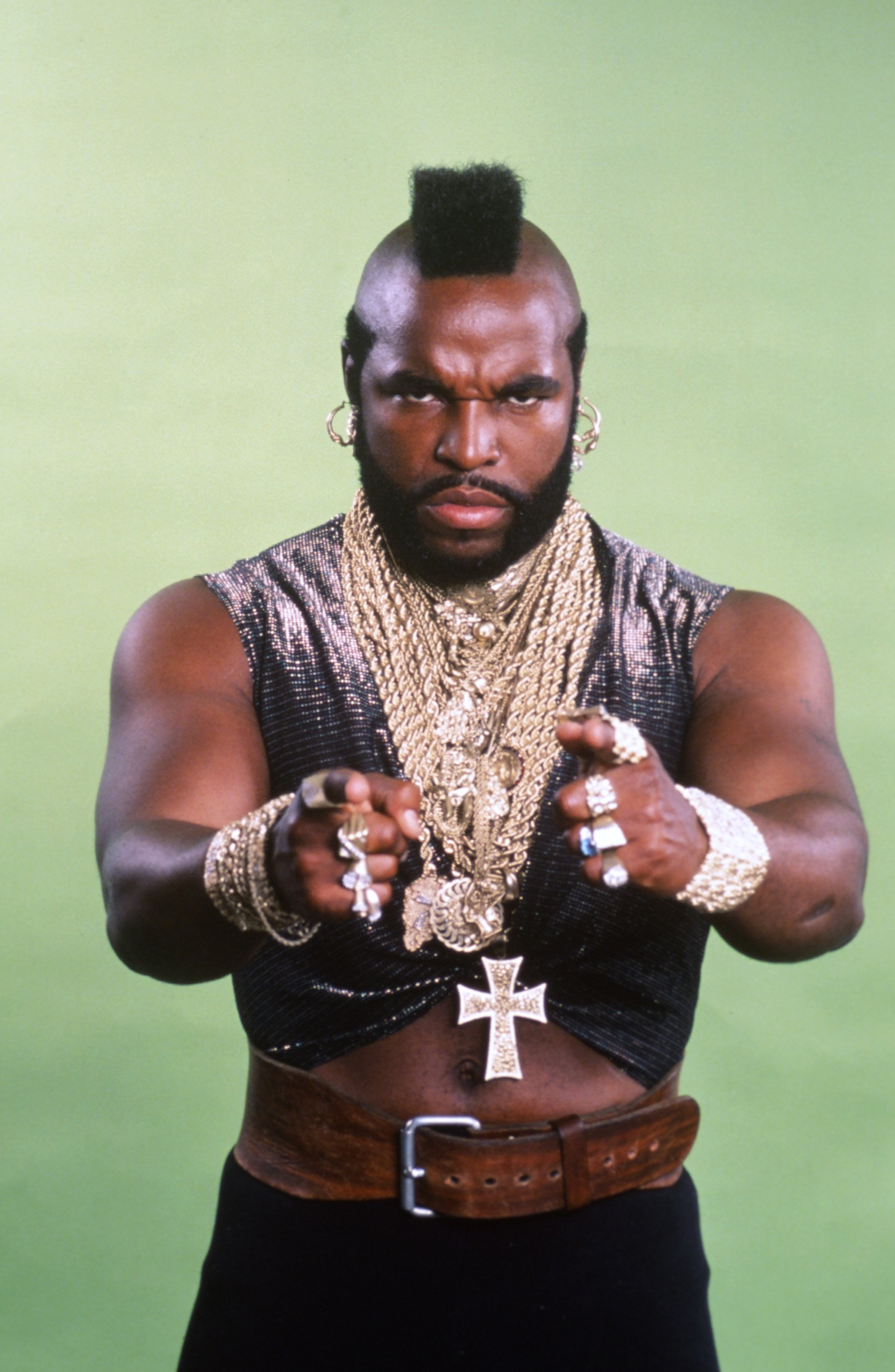 """Mr. T as B.A. Baracus in """"The A Team"""" series. 
