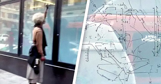 TikToker shows homeless man's drawings and suggests he might be building a time machine | Photo: TikTok/comeatmebhai