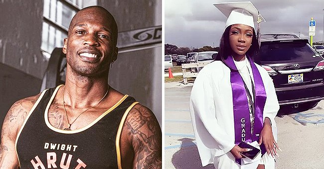Former NFL Star Chad Johnson Shows Daughter Chade Posing in a White Cape & Hat at Her Graduation